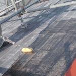 施工中 屋根プライマー塗装中