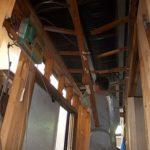 施工中 天井部分の解体中