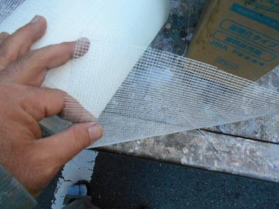 画像:補強材のガラスクロス