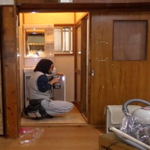 施行中 洗面台設置中