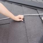 施行中 シーラーにて下塗り後、タスペーサー挿入